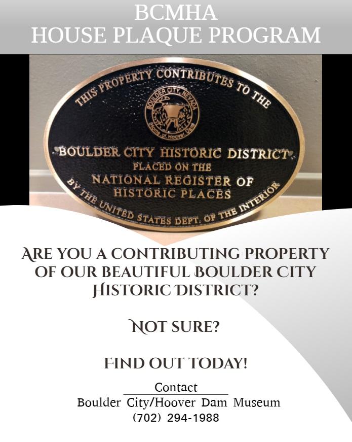 Property Wall Plaque Boulder City, Nevada