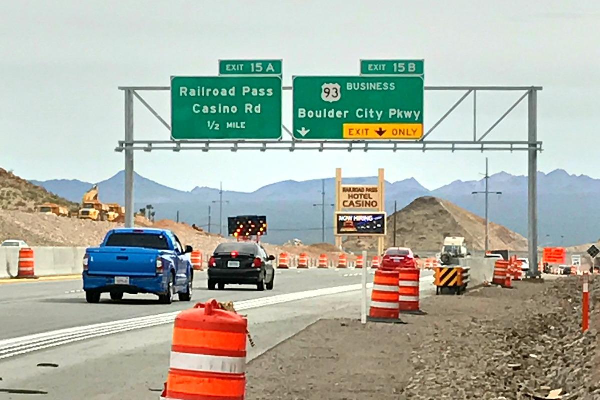 Corrected Signage Parkway Boulder City, Nevada