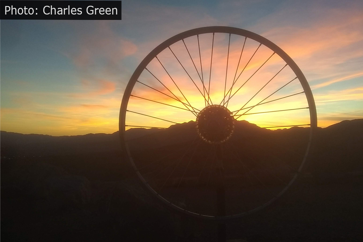 Fan Photo Charles Green Wheel Sunset Boulder City, NV