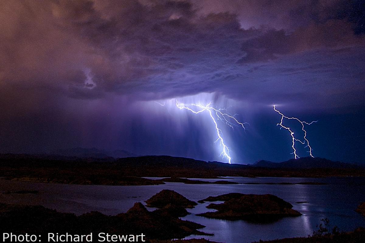 Fan Photo Richard Stewart Lightning Boulder City, NV