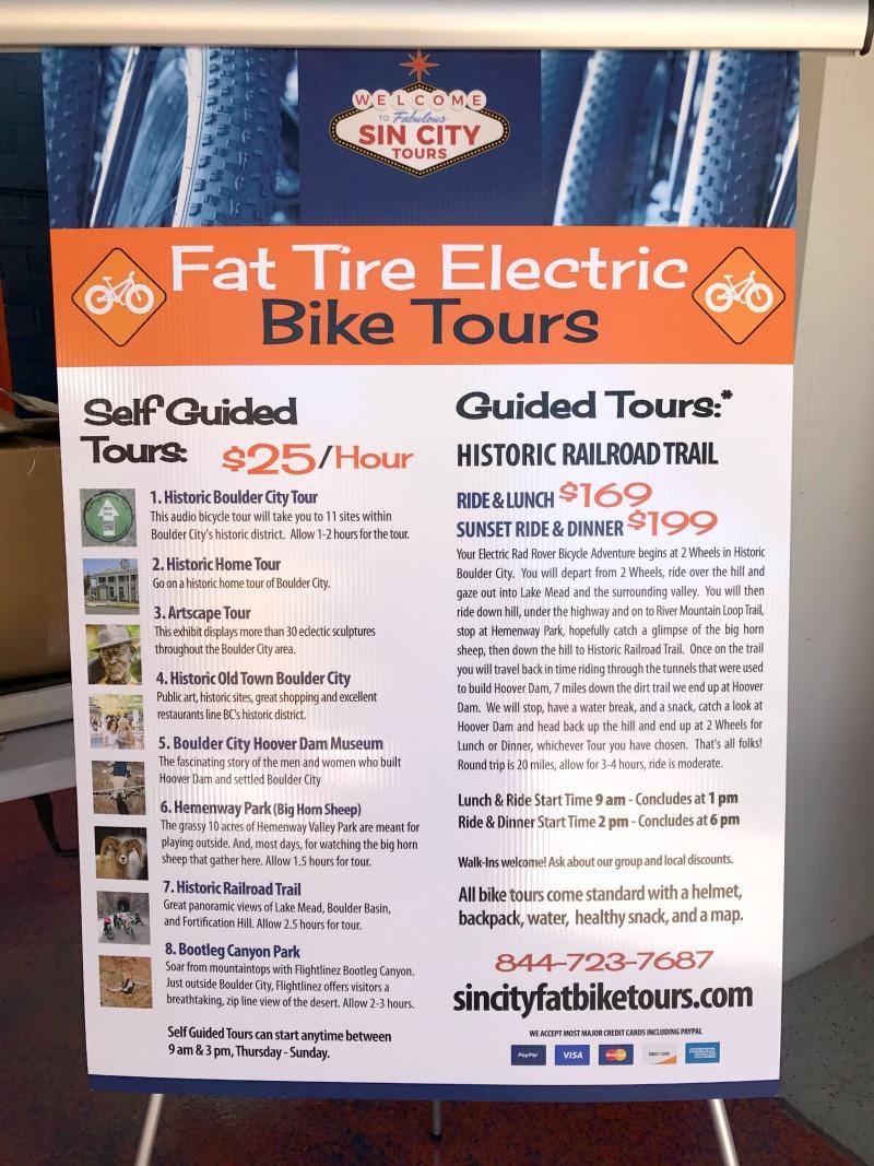 Fat Bike Menu Boulder City, Nevada