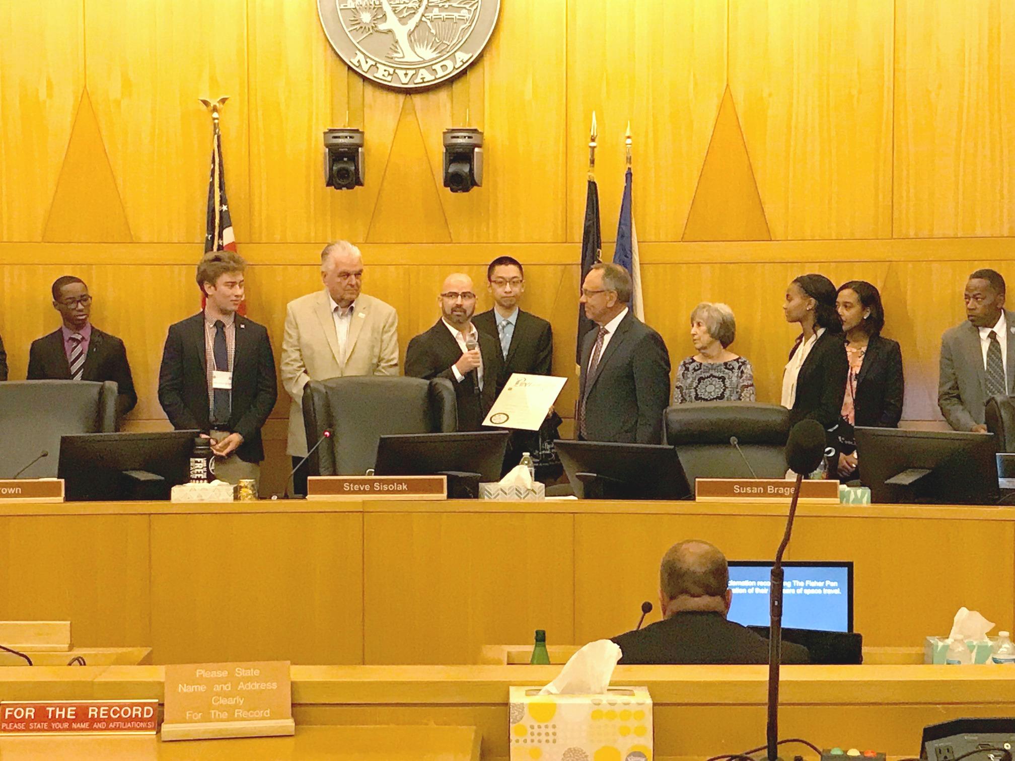 Fisher Space Pen Award Boulder City, NV