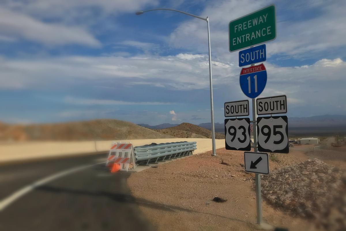 I-11 Entry Sign Boulder City, Nevada