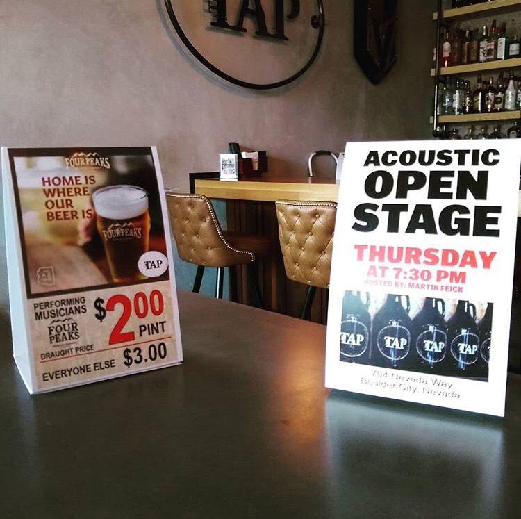 The Tap Open Mic Night Boulder City, NV