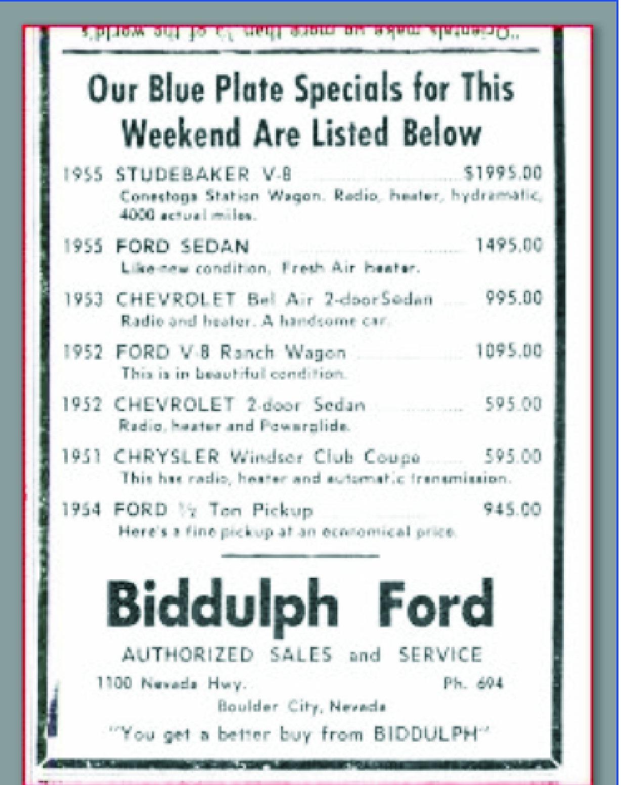 Jim Widner Biddulph Ford Flyer
