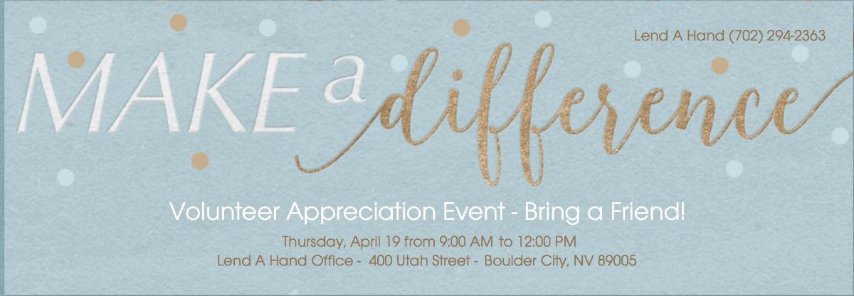Lend A Hand Volunteer Appriciation Boulder City, NV