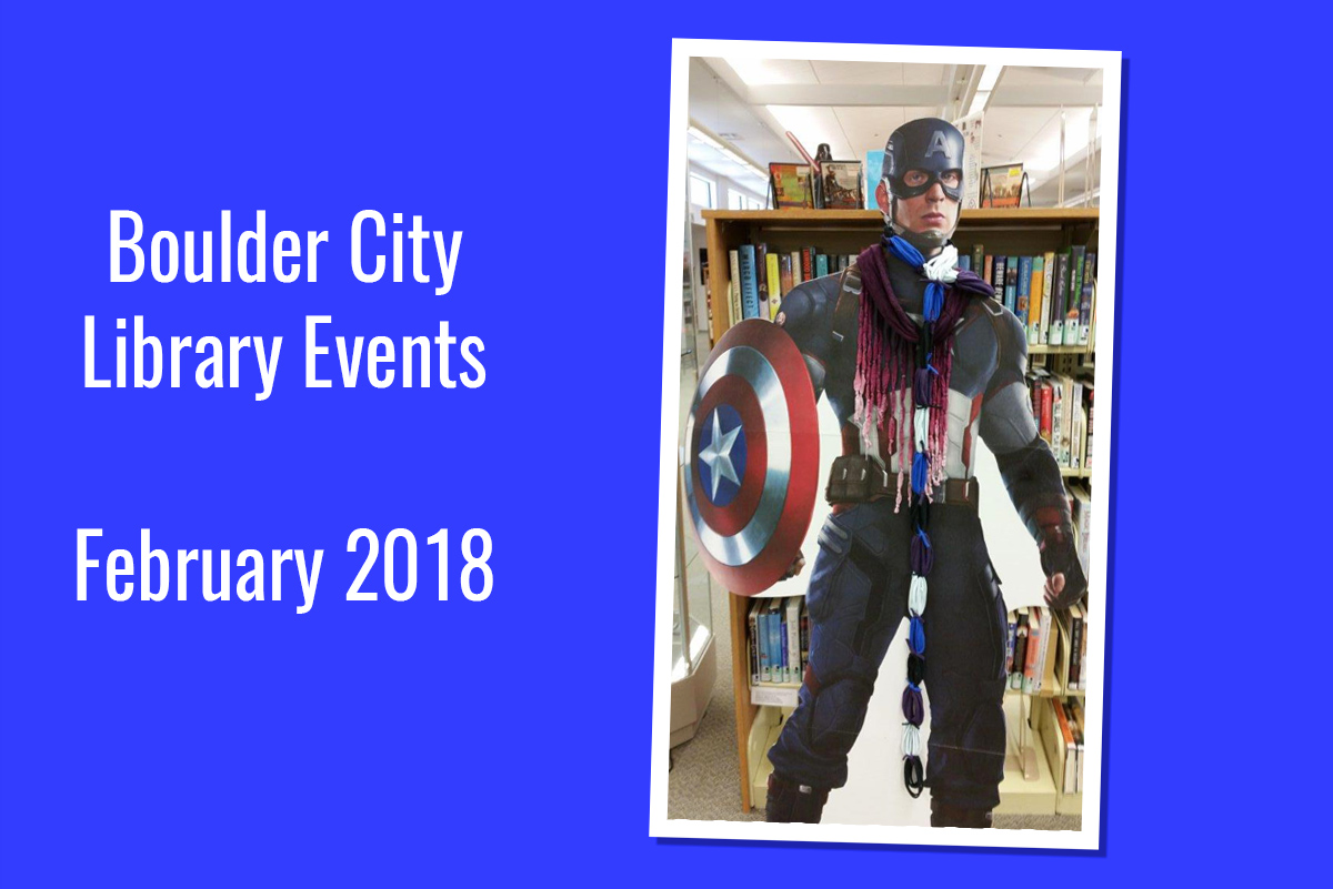 Library Events Feb 2018 Boulder City, NV