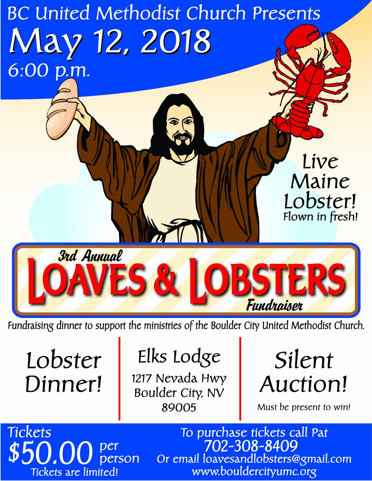 Lobster Poster BCUMC Boulder City, NV
