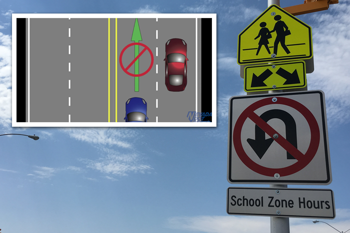 No U-Turns in Boulder City, Nevada School Zones