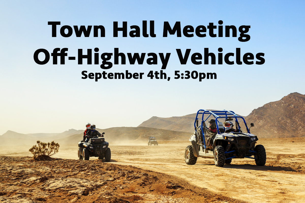 OHV Town Hall Meeting Bouder City, Nevada