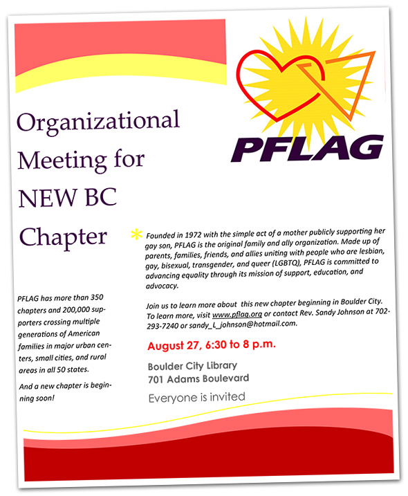 PFLAG Chapter Organization in Boulder City, Nevada