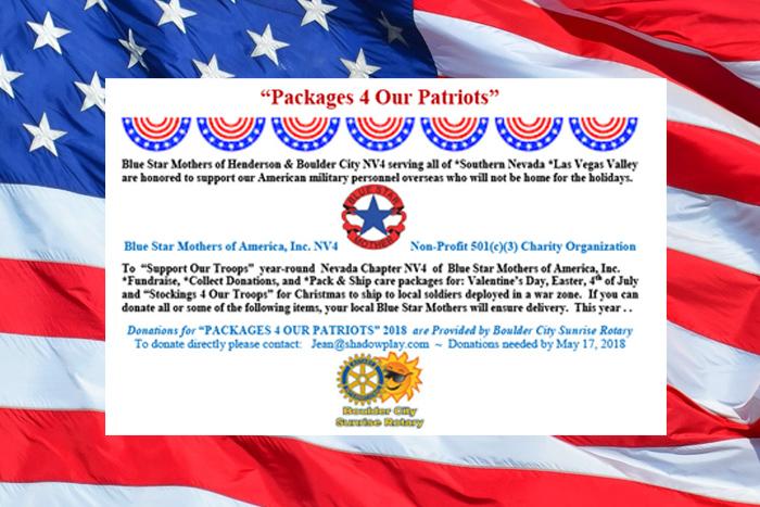 Packages 4 Patriots Boulder City, Nevada