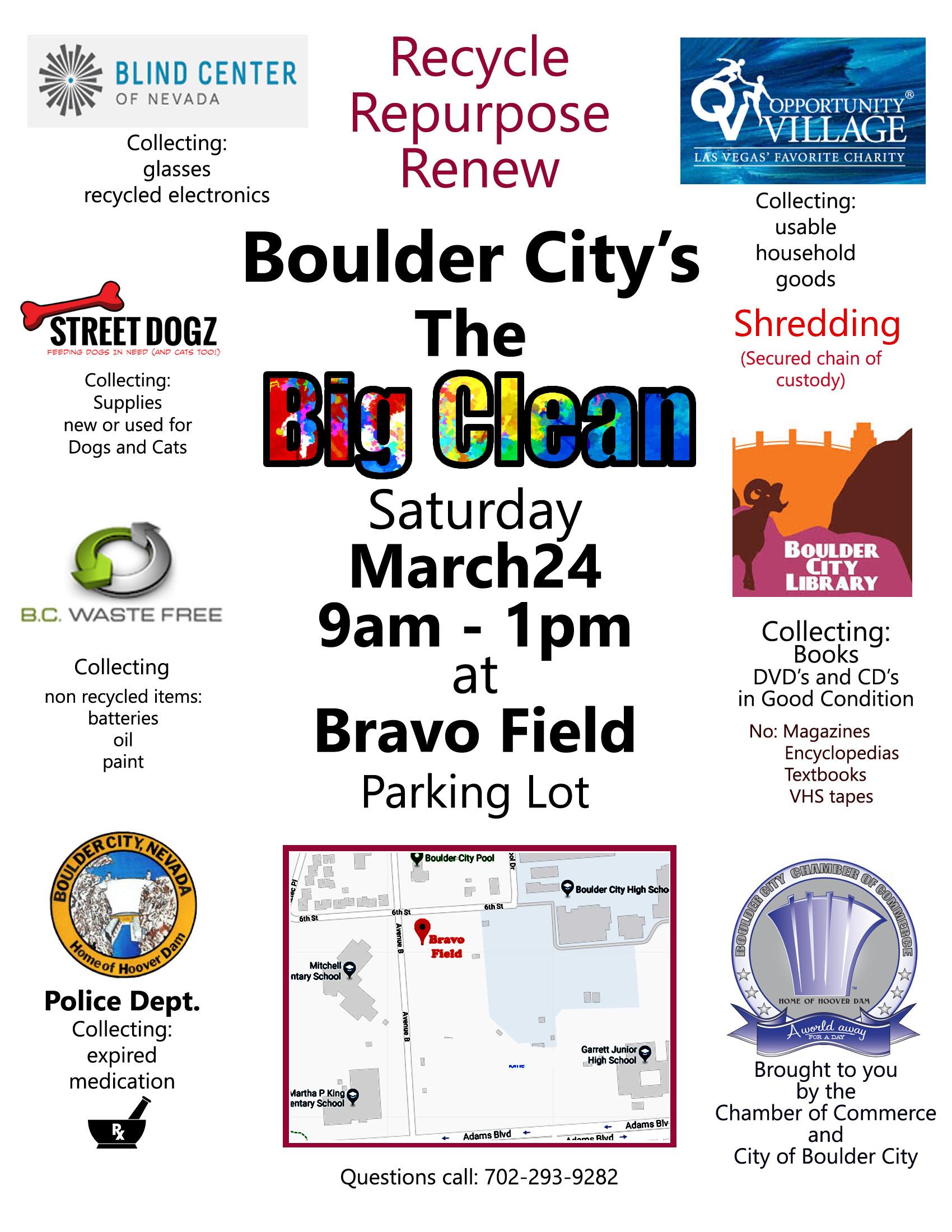 Poster Big Clean Boulder City, Nevada