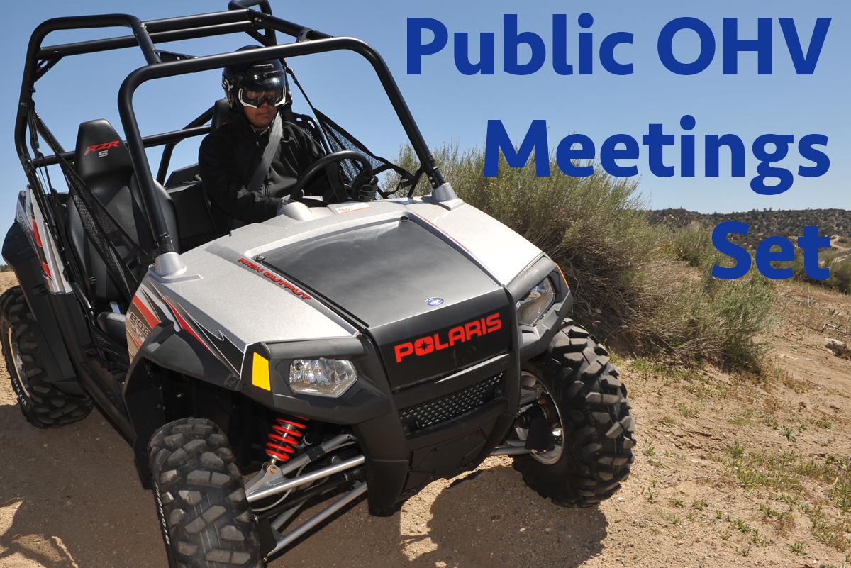 Public OHV Meetings Set Boulder City, Nevada