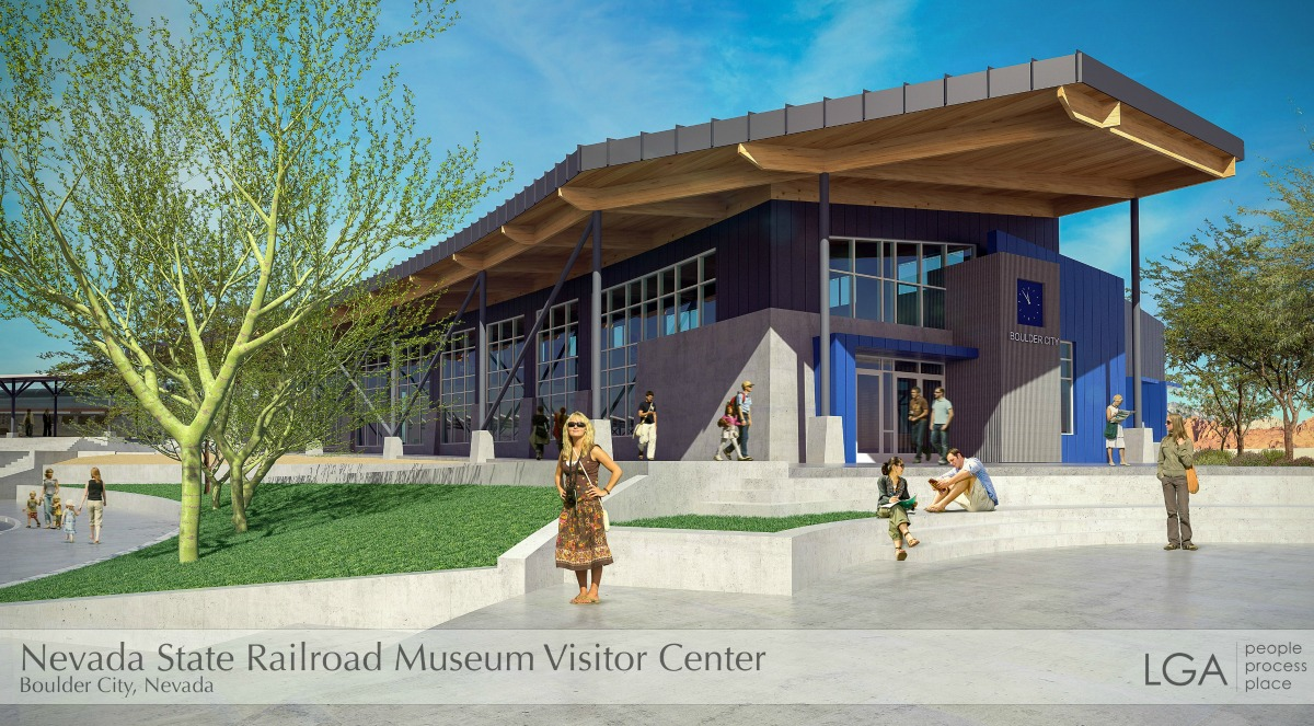 Railway Museum Exterior Entrance Rendering Boulder City, NV