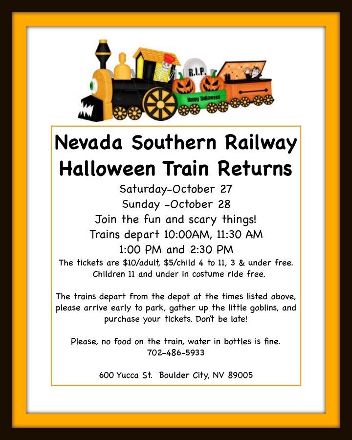 Railway Halloween Flyer Boulder City, NV