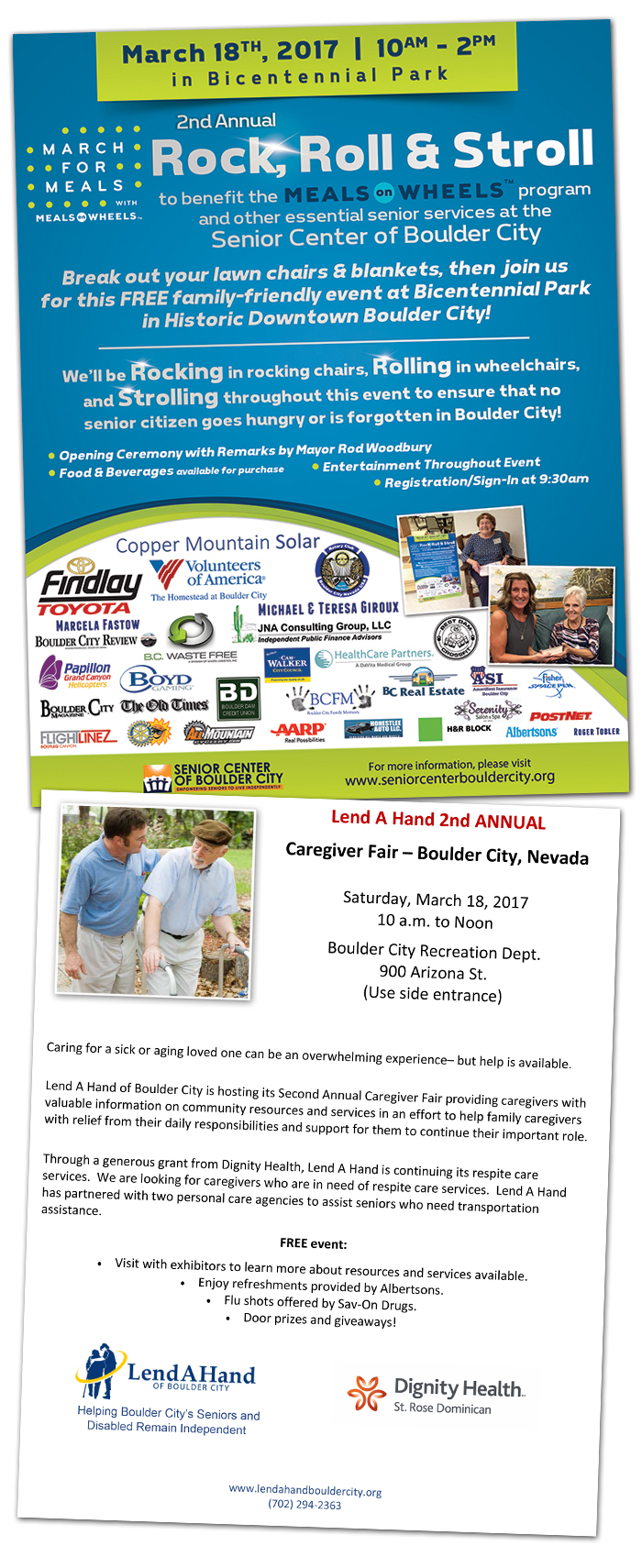 Rock Roll and Stroll and Caregiver Fair 2017 in Boulder City, NV
