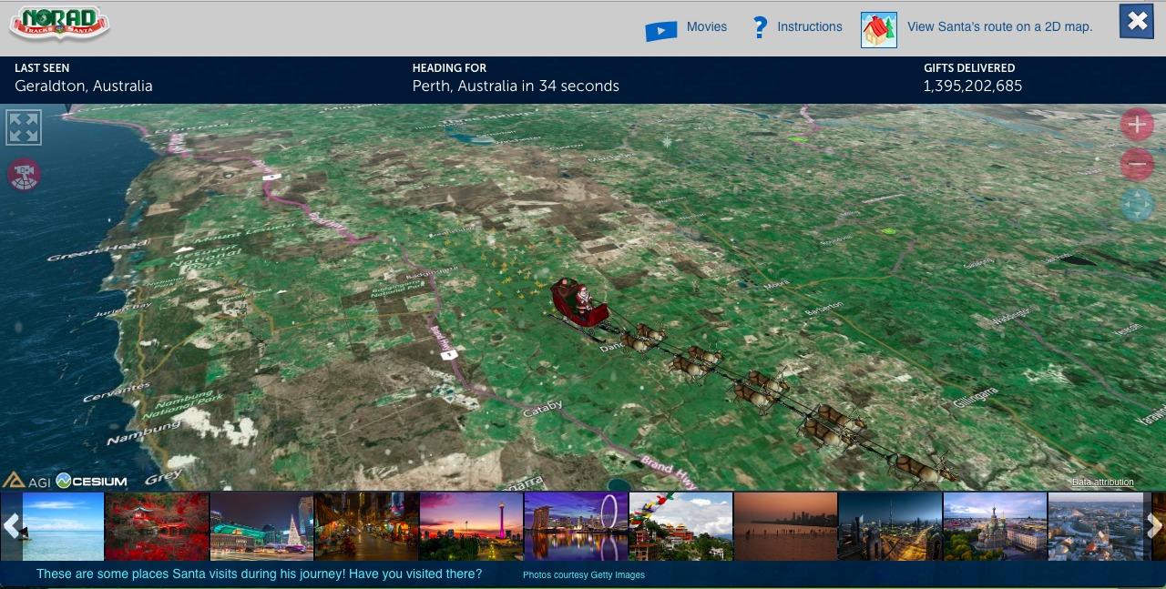 Santa Tracker 2017 Boulder City, Nevada