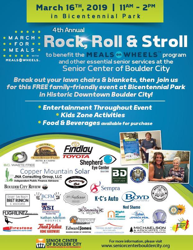 Senior Center Rock Roll Stroll Flyer