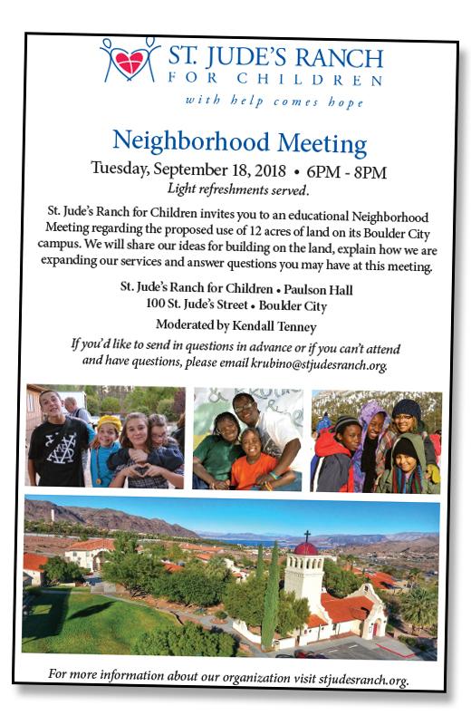 St Judes Meeting Flyer Boulder City, NV