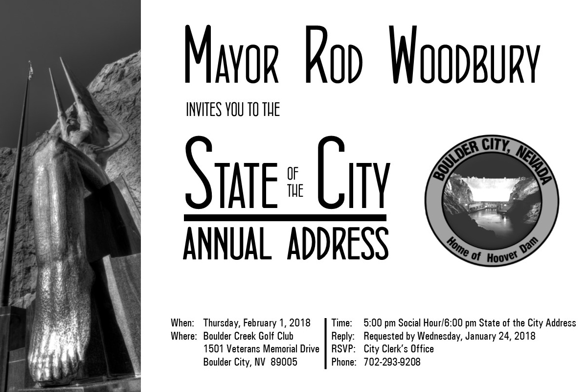 State Of The City 2018 Adress Boulder City, Nevada