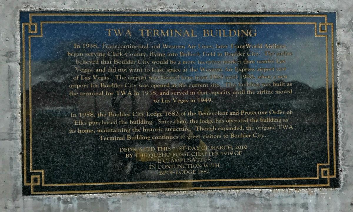 TWA Terminal Building CloseUp Boulder City, NV