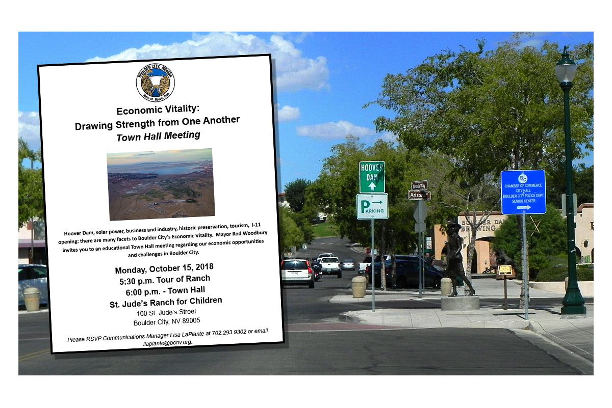 Town Hall Meeting Post Boulder City, Nevada