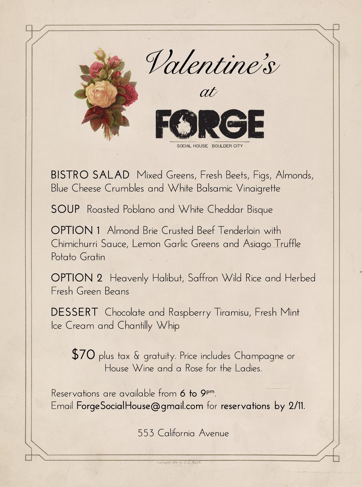 Valentine's Day at Forge 2018 Boulder City, NV