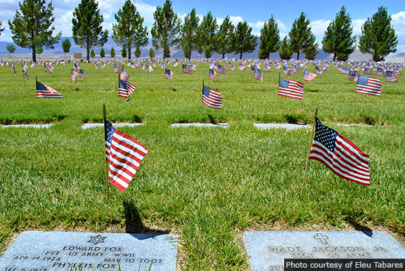 Veterans Memorial Cemetery in Boulder City, Nevada