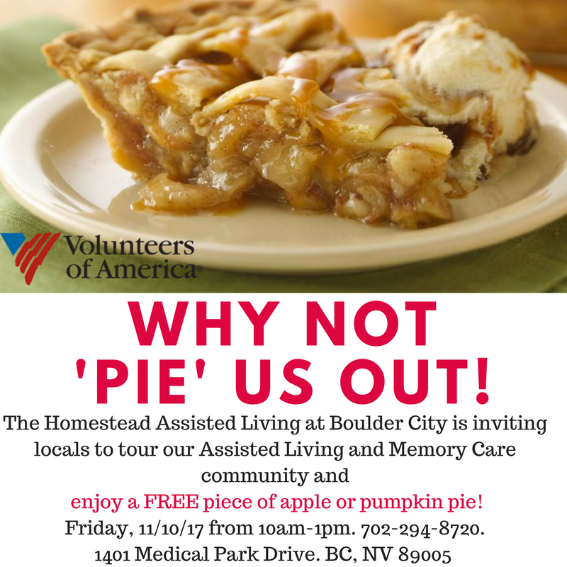 Why Not 'Pie' us out! Homestead at Boulder City, NV