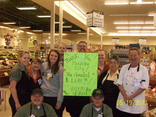 Boulder City Albertsons Food Drive 2011