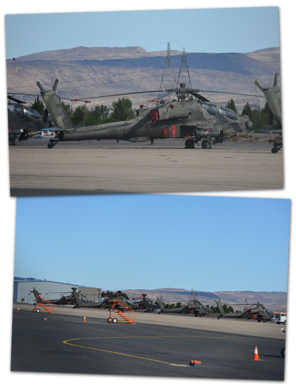 Arizona Air Guard Blackhawk Helicopters in Boulder City, NV