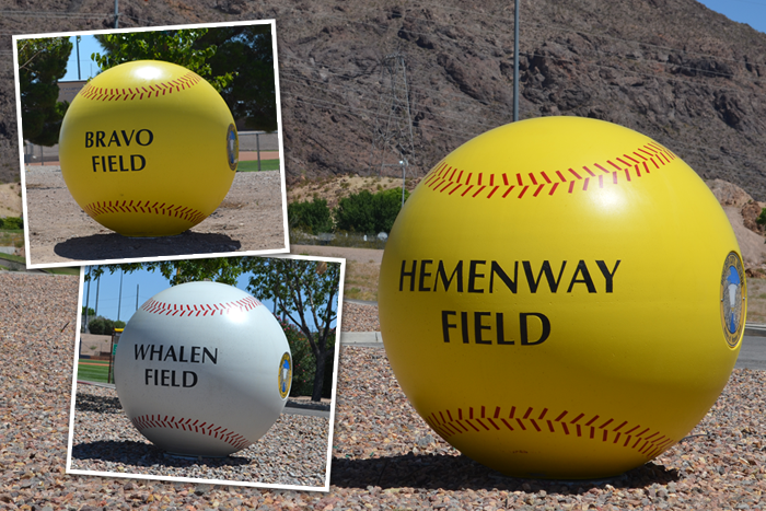 Ball Field Signs in Boulder City, Nevada