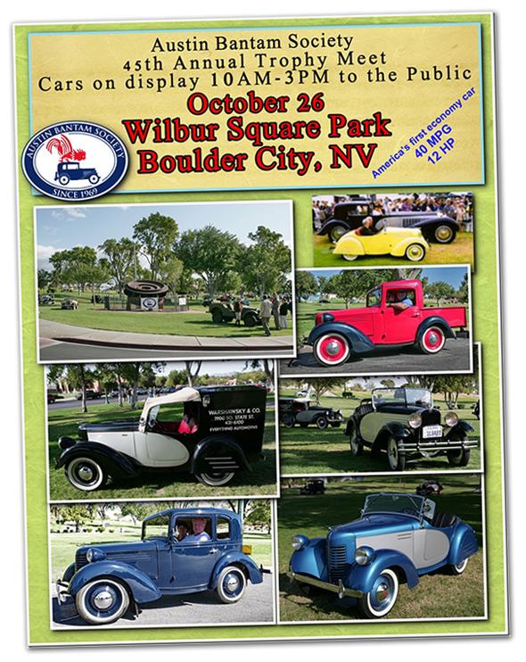 Vintage Austin and Bantam Car Show in Boulder City, Nevada