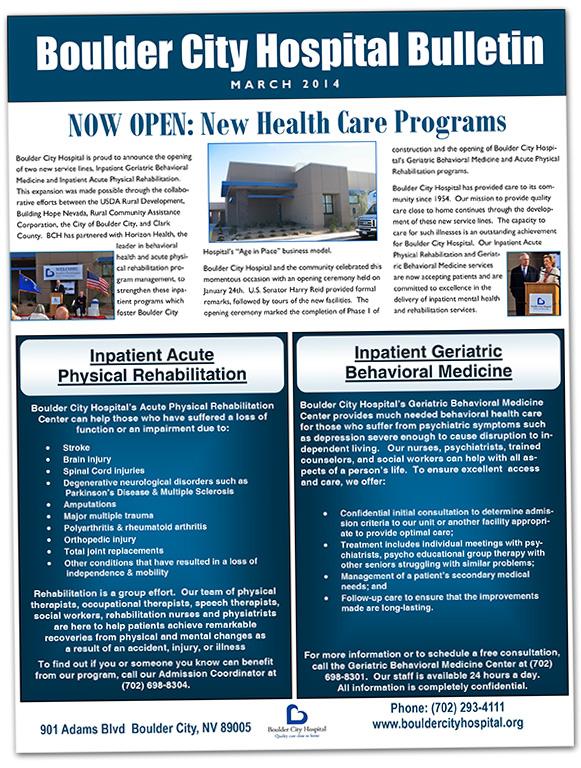 Boulder City Hospital Mar 2014 Newsletter