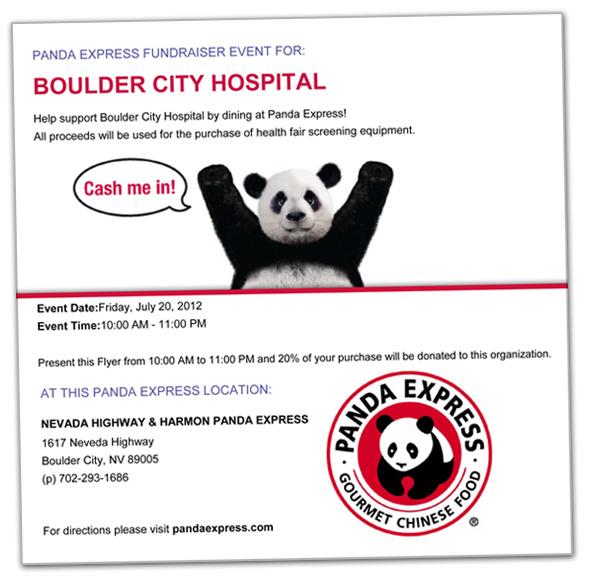Boulder City Hospital - Panda Express Fundraiser