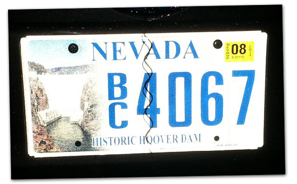 Boulder City, Nevada License Plate Winner - October 2013