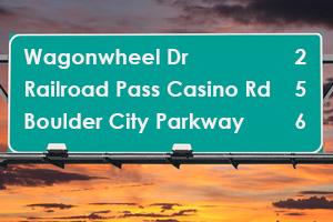 Boulder City Parkway Freeway Sign