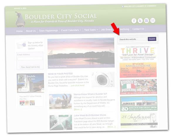 Boulder City Social Search Feature