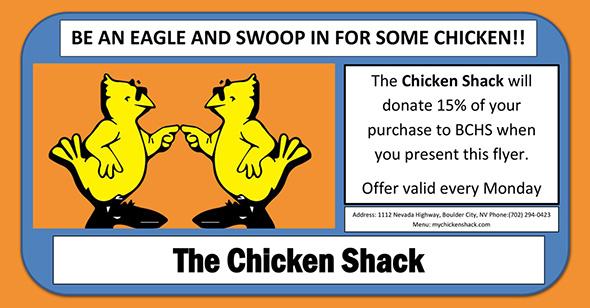 Chicken Shack Fundraiser for Boulder City High School