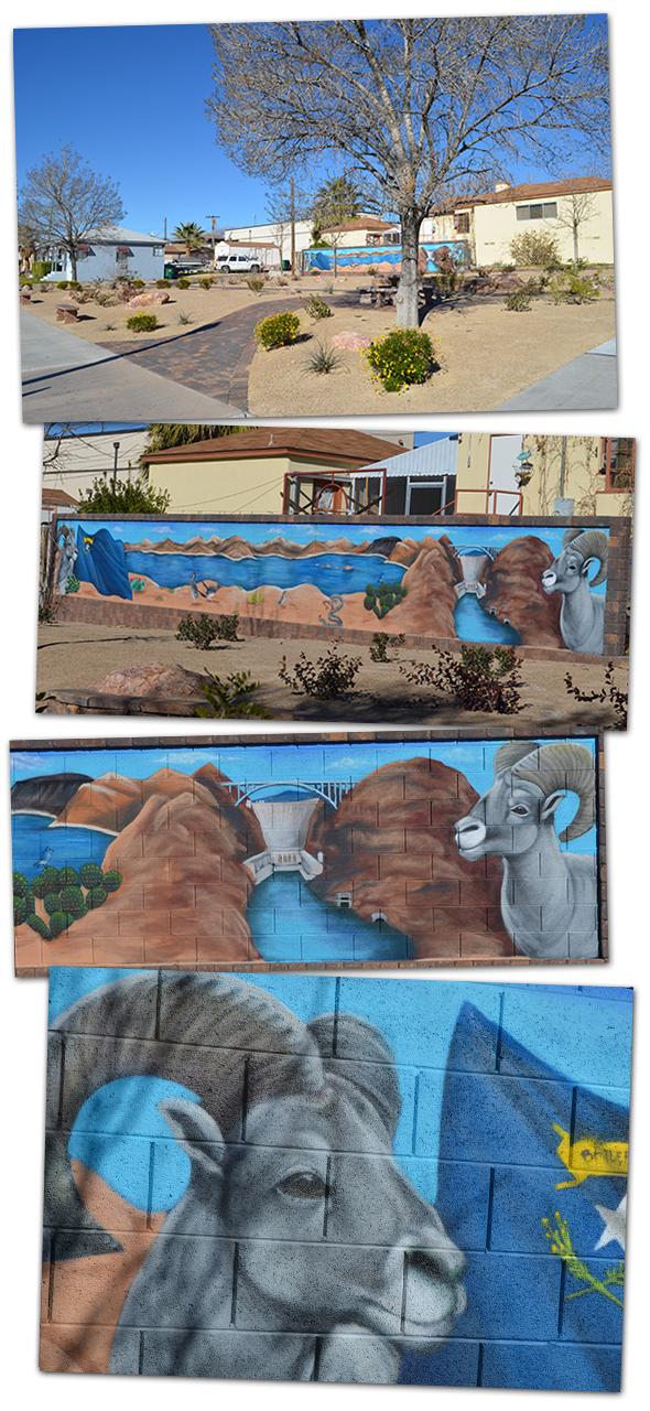 Boulder Dam Credit Union Mural in Boulder City, NV