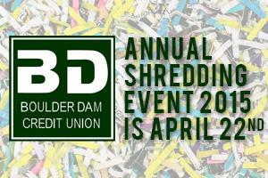 Boulder Dam Credit Union Shredding Day in Boulder City, Nevada
