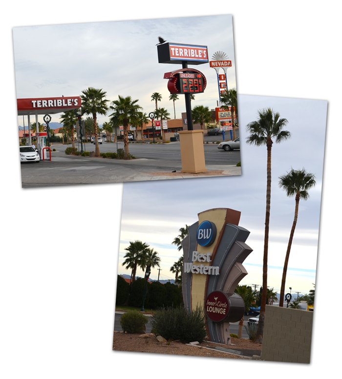 Best Western Terrible's Signs in Boulder City, Nevada