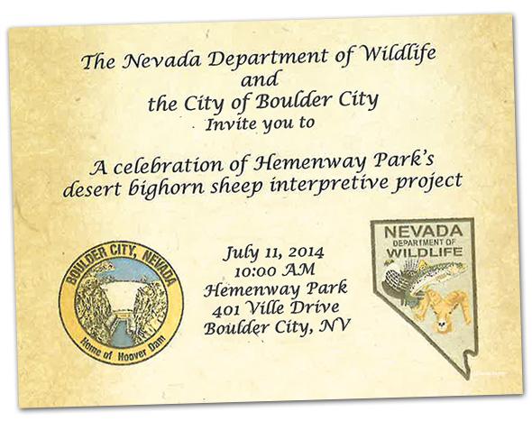 Big Horn Sheep Plaque Dedication Ceremony in Boulder City, NV