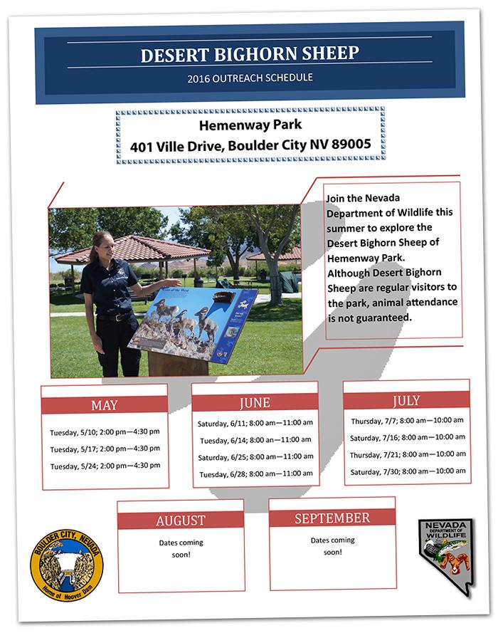 Bighorn Outreach Program 2016 in Boulder City, Nevada