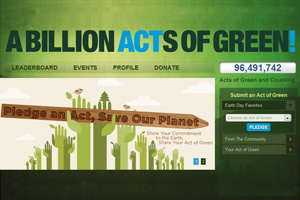 Earth Day 2011 - Billion Acts of Green