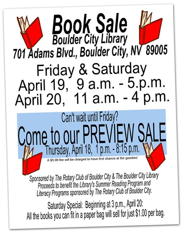 Boulder City Library Book Sale 2013
