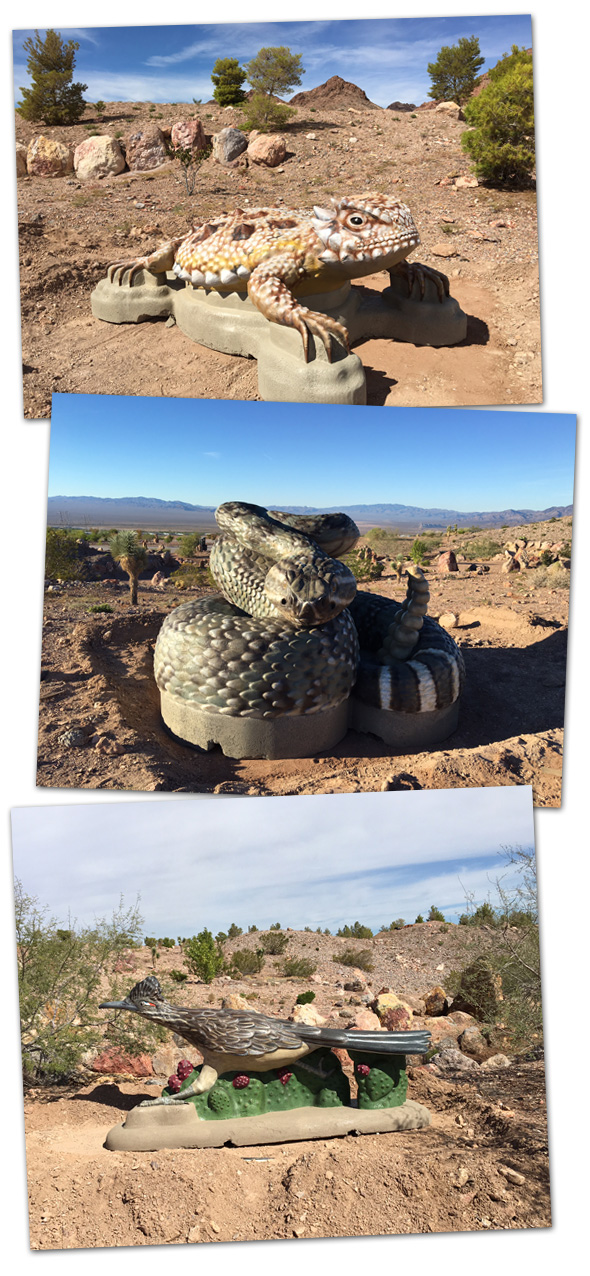 Bootleg Canyon Statues in Boulder City, Nevada