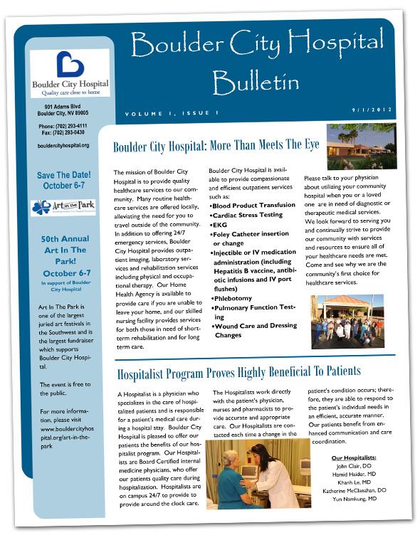 Boulder City Nevada Hospital Bulletin 090112