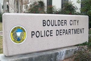 Boulder City, Nevada Police Department Sign